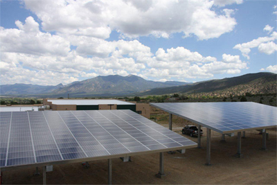 Foothills Community Solar Array at Taos Charter School, Taos, New Mexico